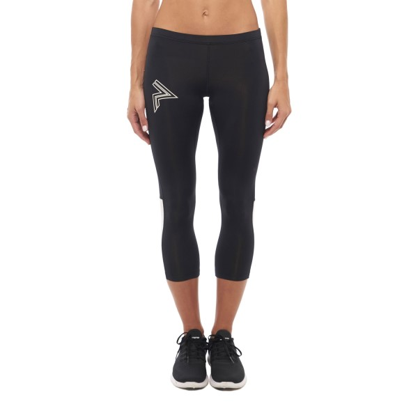 Running Republic Flow Runners Womens Compression Tights - Black/White